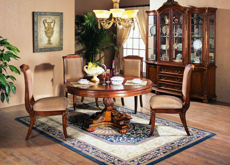 American Antique style Round Dining Table premium collections