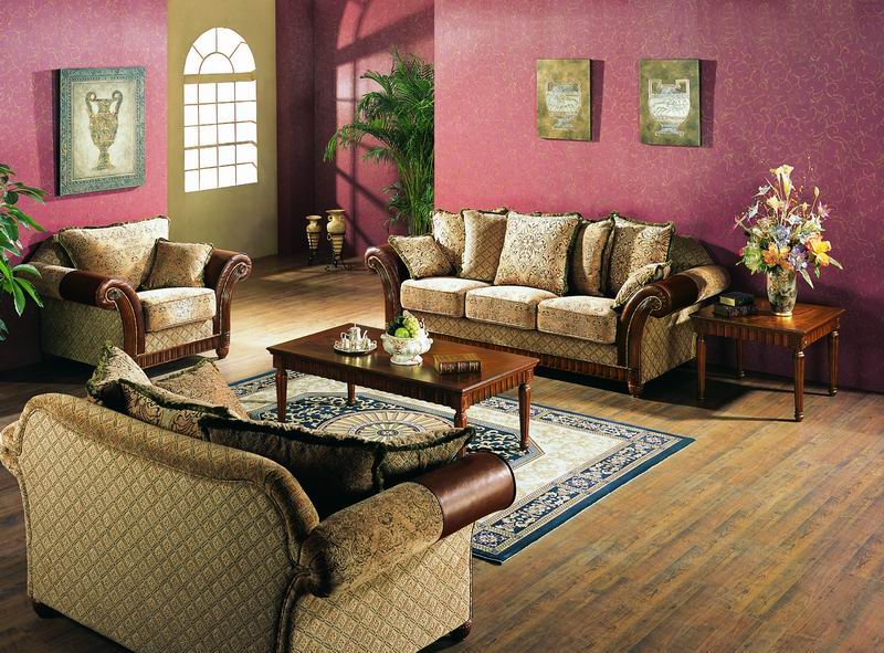 Exposed wood frame sofa collection, high-end living room 205 series