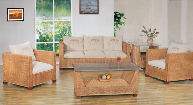 Rattan sofa living room five-piece combination V shaped