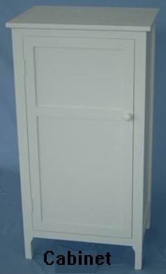 One door cabinet full white finish covered