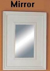 Small wall dressing mirror with carved frame