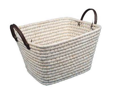 Maize basket in natural color