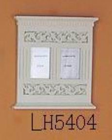 Antique white finish carved photo frame