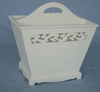 Antique white finishing carved Handle Box