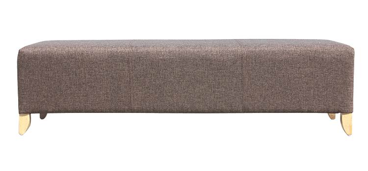 Nordic style Fabric Ottoman with Solid wood legs