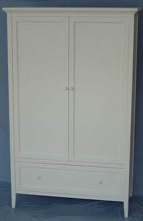 Robe with 2 doors and 2 drawers in fully whited covering finish