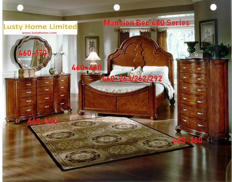 Mansion Bed 460 Series in Antique Chestnut American finish