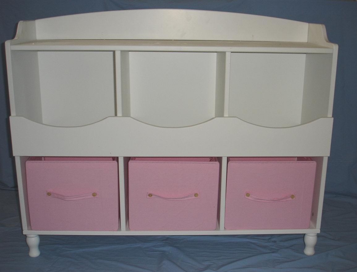 kids toy cabinet/Shelf 3 toy drawers in Hand-painting finish