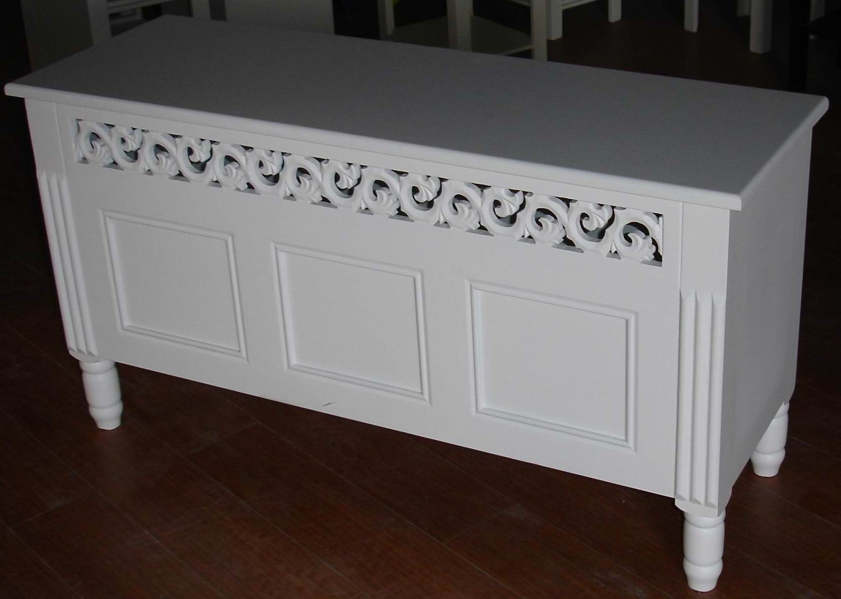 Carved dressing Table fully covering in white paint finishing
