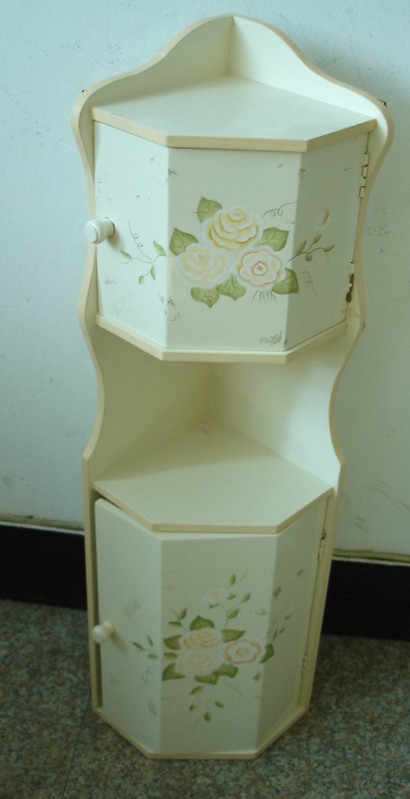Exquisite CD corner cabinet hand-painted