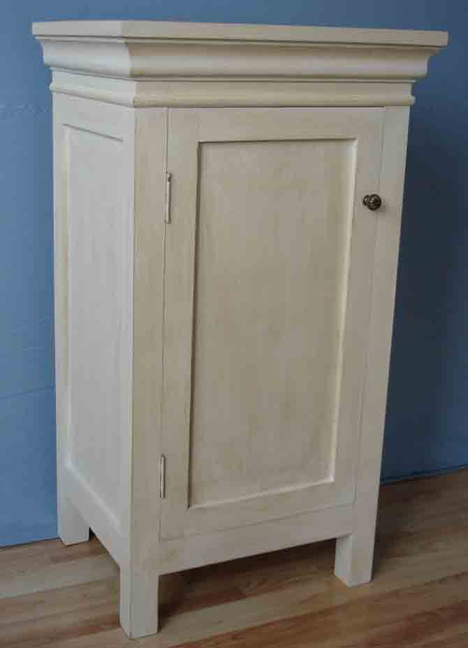 Cabinet with one door in antique white fiinish
