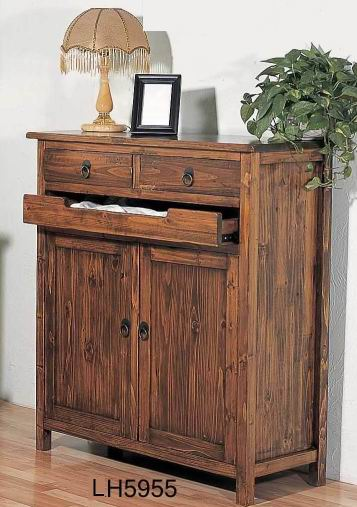 Entertainment area bathroom, simple, make-up,solid fir wood storage cabinet