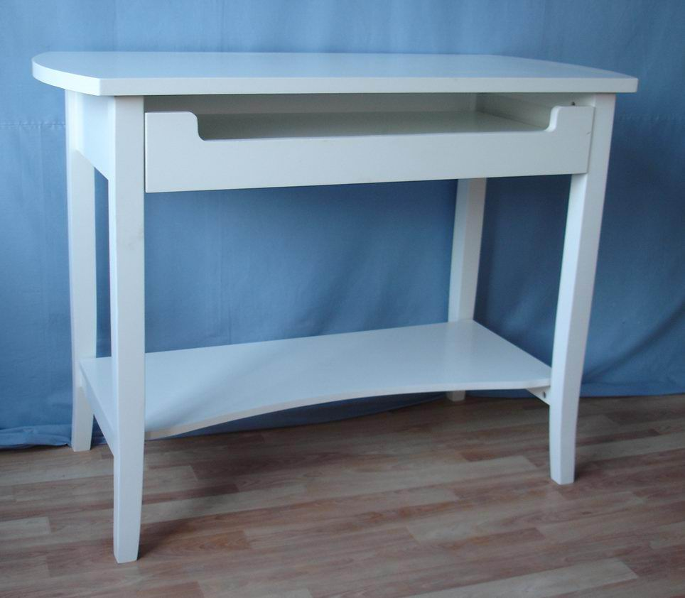 Solid Fir wood Computer Desk with keyboard tray and bottom shelf