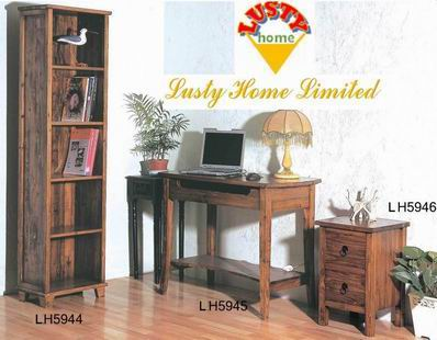 Simple Solid Fir wood Study room collections for free combination