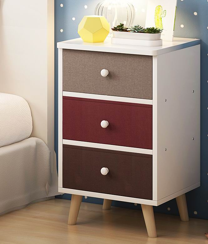 Modern And Popular Nightstand With Fabric Drawer Front In