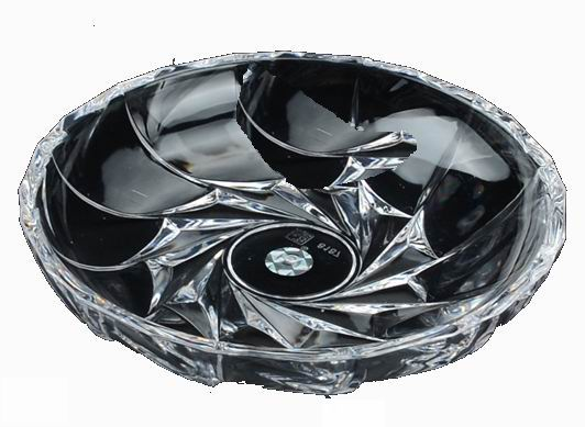 Exquisite carved transparent, imitation glass, plastic acrylic, round rotating bowl, fruit plate, fruit salad bowl