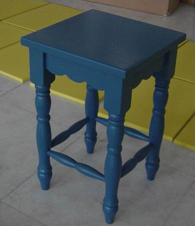 Solid Wood Bench in Antique Matt Blue Finish