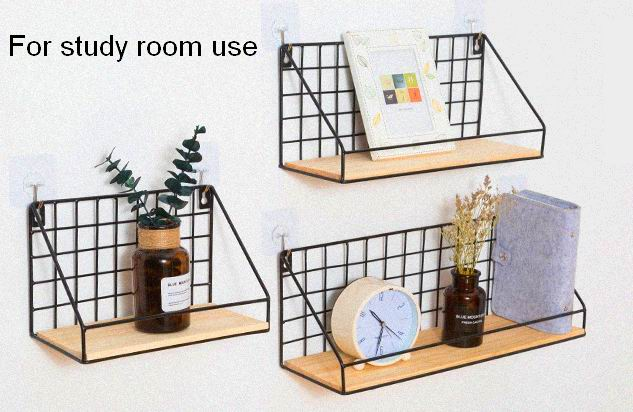 Creative iron art, wall shelf, free of wall perforation, bedroom decorative wall hanging