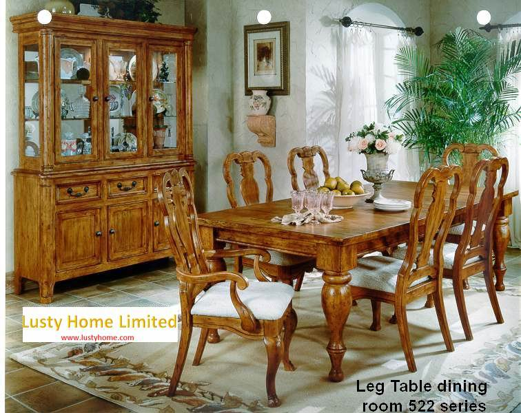 High-end Carved Leg Rectangular Dining Table 522 Series