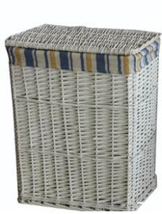 Grey Washed willow Laundry Baskets