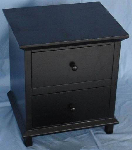 Antique Matt Black Filer Cabinet