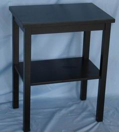 Antique Matt Black Finish Telephone Table with one shelf