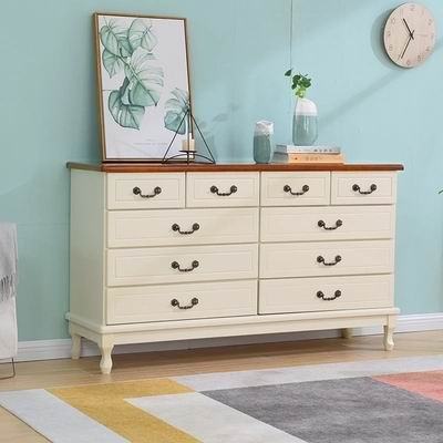 Solid Soapwood 10 drawers of Chest in Nordic style