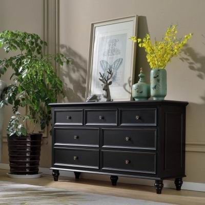 Solid Russia Birch 7 drawers of Chest in American Village and Nordic Style