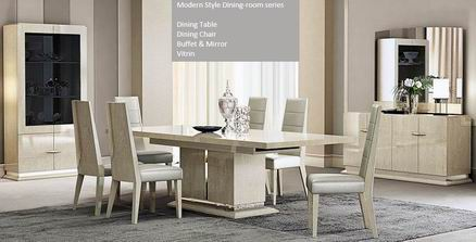 Light Walnut with High Gloss Modern and Premium Dining collections