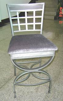 Metal Bar chair with seat cushion
