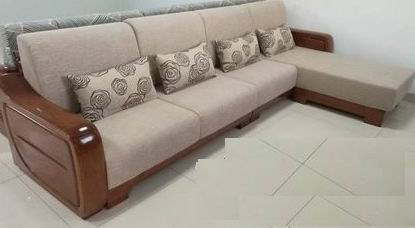 Golden Walnut 3 pcs Combinations of Sofa Living Room