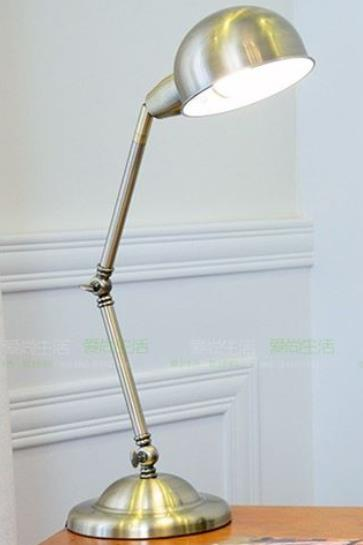 American metal a retro antique folding desk lamp frame without lamp