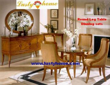 Practical and Popular American Furniture Round Leg Table Dining Sets