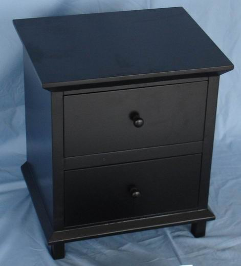Practical and Popular Dark black Assembled Nightstand