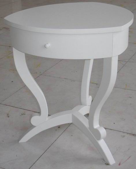 Corner Telephone Table Heart Shaped with One Drawer & Three Legs