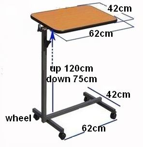 Can lift medical patient table, bedside computer table, movable learning table. Bedside table